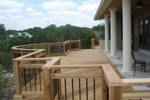 Cedar Deck with Radius