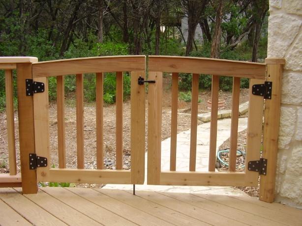 Curved Cedar Gate