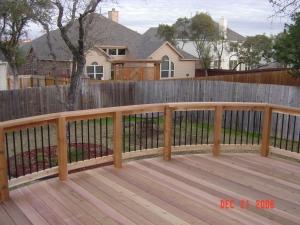 Curved Cedar Rail