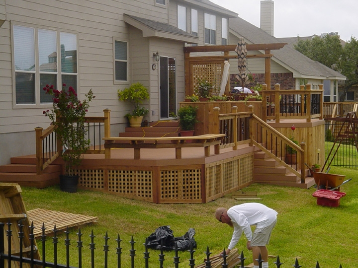 EverGrain Composite Decking with Western Red Cedar Accents.