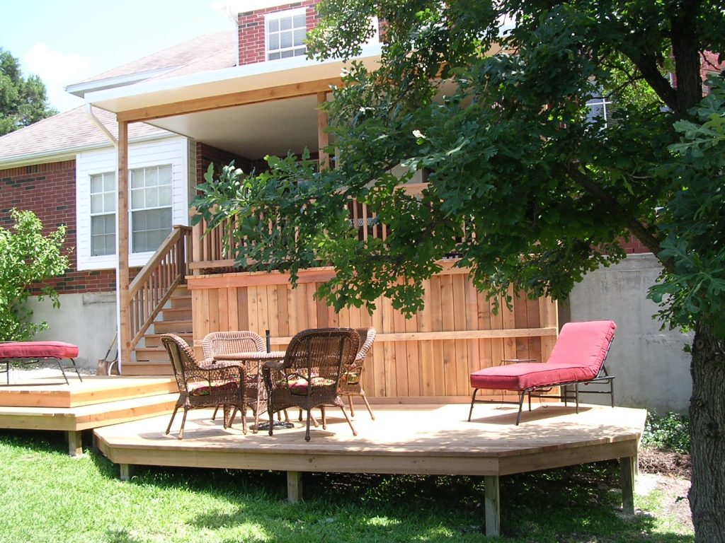 Split Level Cedar Deck