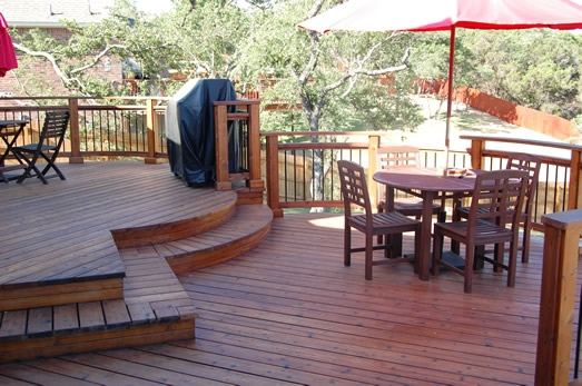Split Level Redwood Deck
