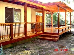 Cedar Deck with Cedar Pergola