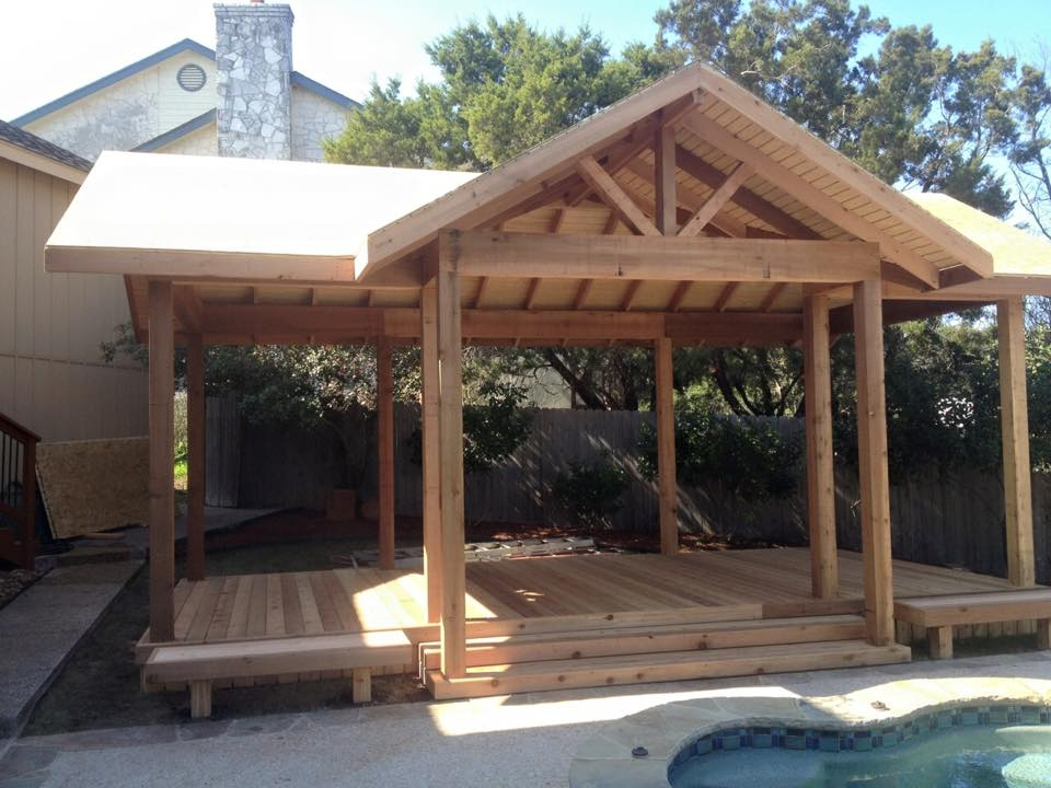 Charmant ... Unique Cedar Patio Cover
