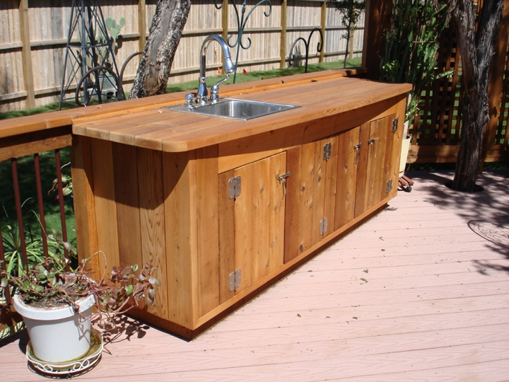 Western Red Cedar Potting Table