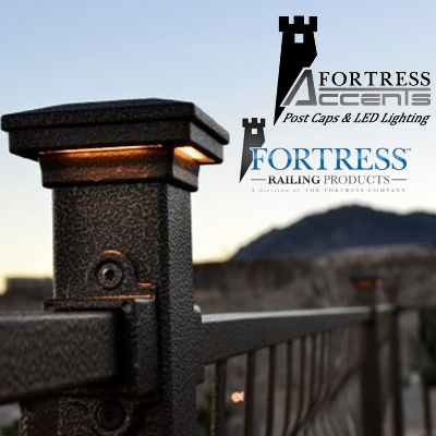 Fortress railing products post caps and led lighting braundera aloadofball Choice Image